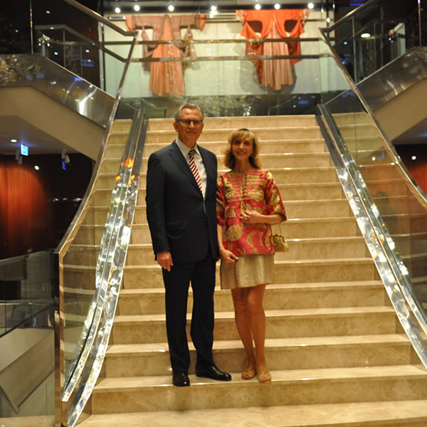 Dr. Yalcin & Dr. Serpil Ayasli at the opening of ARMAGGAN's Nuruosmaniye store